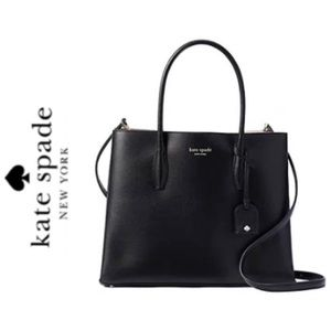 NWT Kate Spade genuine leather Eva satchel black
